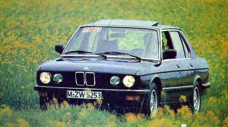 BMW 525 e in BMW 524 td (foto: Marjan Zaplatil)