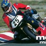 S serijskim motociklom na državno prvenstvo. Pod tekmovalnimi številkami so s tapeto prelepljene luči. (foto: Uroš Potočnik)