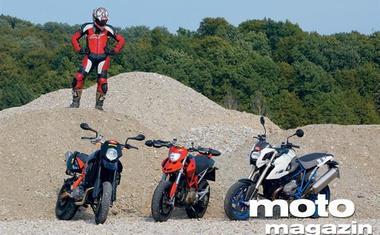 BMW Megamoto, Ducati Hypermotard, KTM Supermoto 950