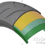 Pnevmatika ima FS-JLB (Flex Steel - Joint Less Belt) zgradbo za manjše raztezanje pri večjih obremenitvah (visoka hitrost, vožnja s sopotnikom...). (foto: Dunlop)