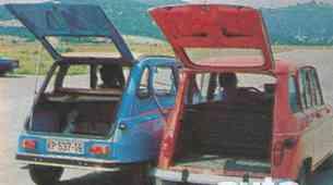 Citroen Dyane6, Renault 4TL
