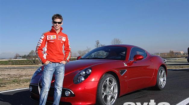 Stoner testiral Alfo 8C Competizione (foto: Alfa Romeo)