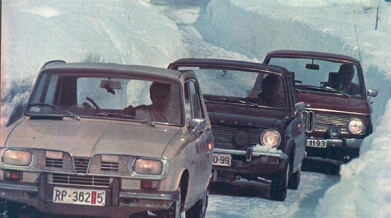 Austin - IMV maxi; BMW 1600; Renault - Litostroj R 16 TL
