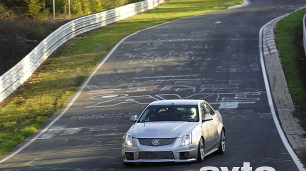 Cadillac CTS-V v manj kot osmih minutah po Ringu
