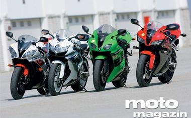 Honda CBR 600 RR, Kawasaki Ninja ZX6-R, Suzuki GSX-R 600, Yamaha YZF-R6