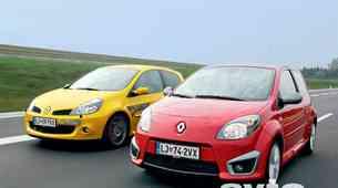 Vzporedni test: Renault Twingo RS in Clio 2.0 16v RS F1 Team R27