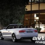 Brezstrešni Audi A5 na sončni strani Alp (foto: Audi)