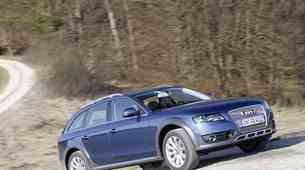 Audi A4 Allroad na sončni strani Alp