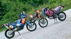 Dirkaški test: KTM LC4 620 Rally, KTM 690 Rally Replica in KTM EXC 450