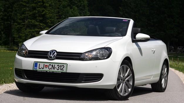 Novo v Sloveniji: Volkswagen Golf Cabriolet (foto: Matevž Hribar)