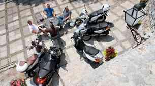 Test: Aprilia Atlantic, Honda SH, Piaggio Beverly in X7 Evo, Yamaha X-Max