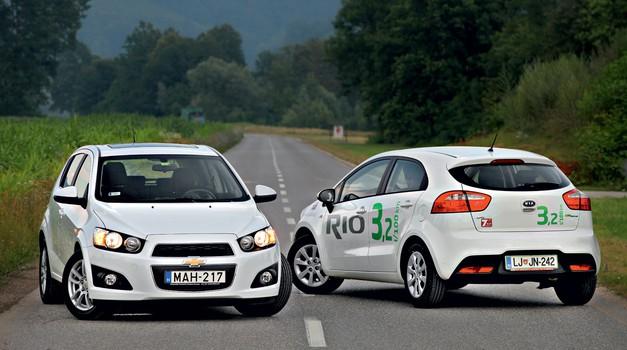 Vzporedni test: Chevrolet Aveo 1.3D (70 kW) LTZ in KIA Rio 1.1 CRDi Urban (5 vrat) (foto: Saša Kapetanovič)