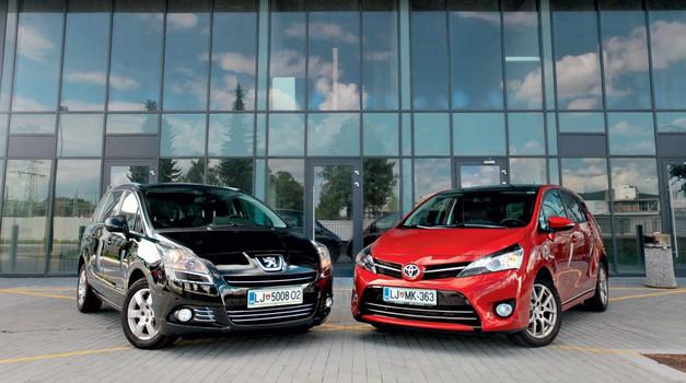 Primerjalni test: Peugeot 5008 proti Toyoti Verso (foto: Saša Kapetanovič in Aleš Pavletič)