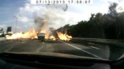 Medtem v Rusiji: serija eksplozij, ko se zaleti tovornjak s plinskimi jeklenkami