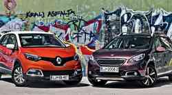 Primerjalni test: Peugeot 2008 1.6 e-HDi (84 kW) Allure in Renault Captur TCe 120 EDC Expression