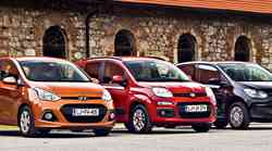 Primerjalni test: Fiat Panda, Hyundai i10 in VW up