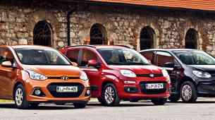 Primerjalni test: Fiat Panda, Hyundai i10 in VW up
