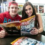 Hokejist HDD Olimpija Tomaž Trelc in model Anja Jenko sta uživala tudi v Avto magazinu (foto: Mediaspeed)