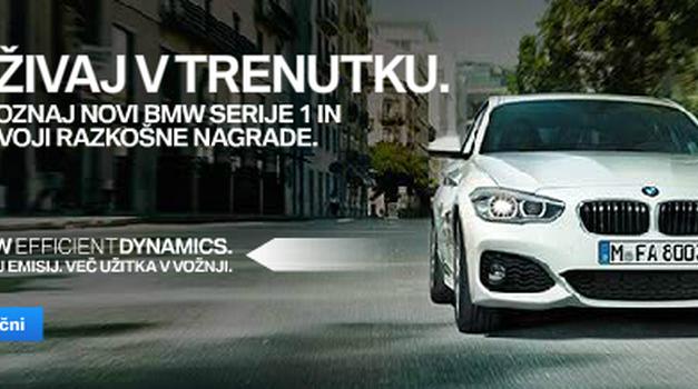 UŽIVAJ V TRENUTKU - Spoznaj novi BMW serije 1 in osvoji razkošne NAGRADE (foto: BMW oglas)