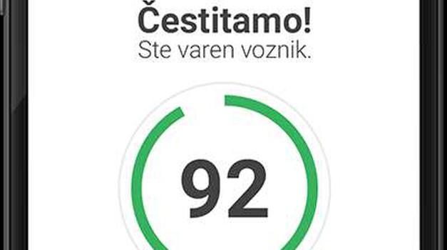 Aplikacija DRAJV nagrajuje varne voznike (foto: Zavarovalnica Triglav)
