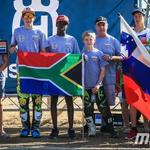 Naši v družbi predstavnikov Južne Afrike (foto: MXGP in arhiv MM)