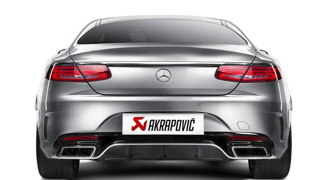 Ultralahki izpušni sistem za Mercedes-AMG S 63 AMG Coupé (foto: Akrapovič)