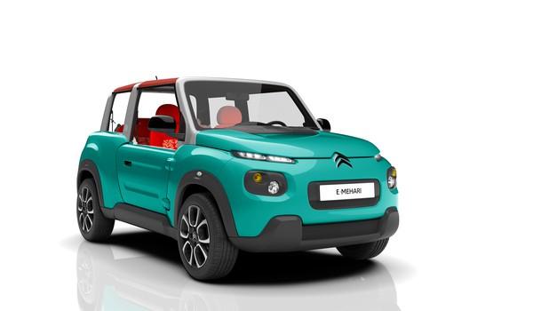 Citroën E-Mehari - hudomušni električni spomin na zgodovinsko ikono (foto: PSA Peugeot Citroën)