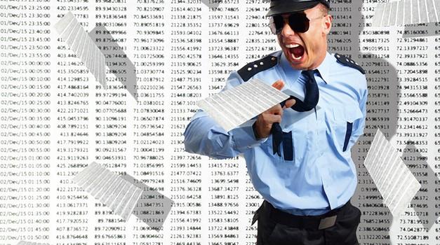 Policijsko inkasantstvo v kraljestvu tabel (foto: Shutterstock)