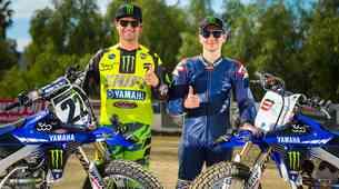 Jorge Lorenzo in Chad Reed na ovalu