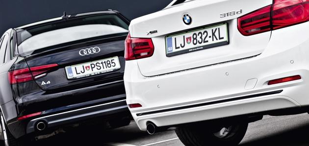 Audi A4 2.0 TDI Sport proti BMW 318d xDrive