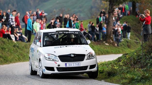 Reli DP: Jernej Fakin kar dvakrat s Peugeotom 208 R2 (foto: Uroš Modlic)