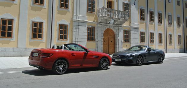 Novo v Sloveniji:Mercedes-Benz SLC in SL