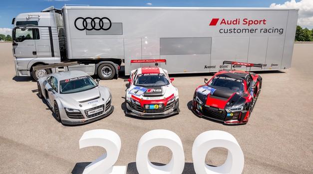 Audi Sport izdelal dvestoti Audi R8 LMS (foto: Audi)