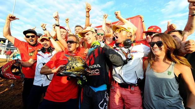 MXGP: Tim Gajser je svetovni prvak!!! (foto: Honda proraing)