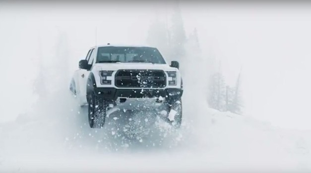 Ken Block izvajal vragolije na snegu s Fordom F-150 Raptor (foto: Ford)