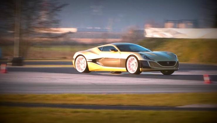 Opla! Na Racelandu ne testira le naše uredništvo! Video: Rimac Concept one in Bugatti Veyron