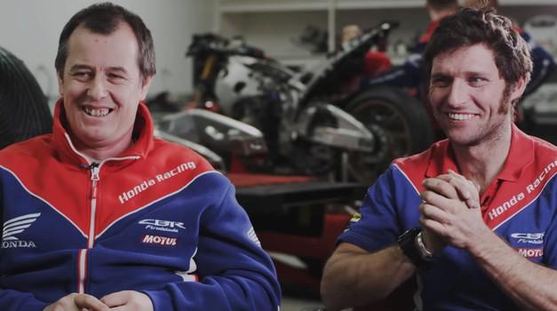 Takih karakterjev primanjkuje! John McGuinness in Guy Martin z ramo ob rami (video) (foto: Honda)