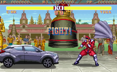 V japonskem oglasu se Toyota C-HR prestavi v legendarno igro Street Fighter II