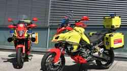 Foto: otvoritev moto sezone v Trzinu. Motoristi reševalci imajo Ducatija Multistrado!
