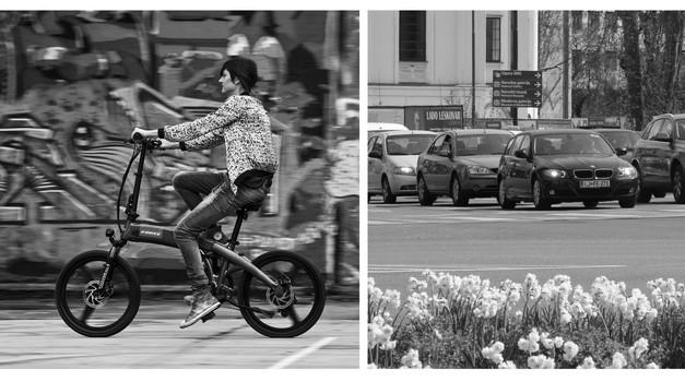 Katja o tem, zakaj kljub stanovanju blizu centra Ljubljane brez avtomobila ne gre