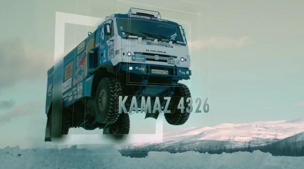 Seveda želite videti, kako daleč lahko skoči 10-tonski ruski tovornjak Kamaz (foto: Red Bull)