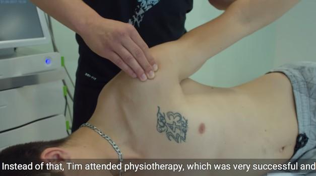 """Video, ki prikazuje Gajserjevo rehabilitacijo. Dr. Matjaž Vogrin: """"Operacija na srečo ni bila potrebna"""" (foto: ism-mb.si)"""