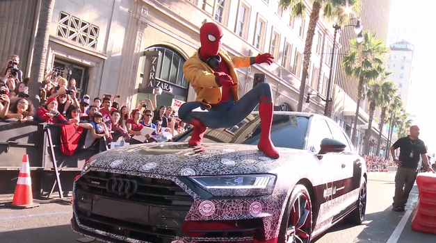 Audi A8 2018 je Spider-Mana popeljal na premiero filma Vrnitev domov (foto: Audi Deutschland)