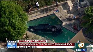 Voznica pozabila prestaviti v parkirno prestavo in Ford F-150 Raptor je končal v bazenu