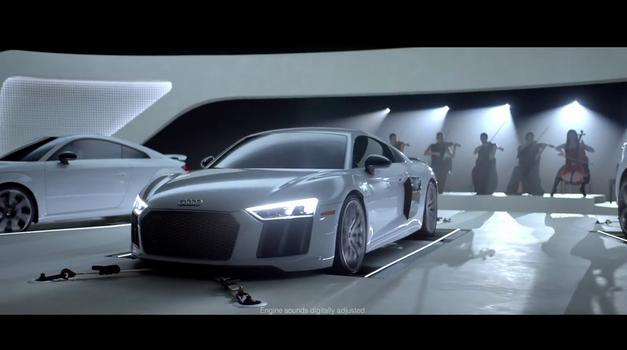 Audijevi motorji 'zaigrajo' uvodno glasbo iz Zvezdnih stez in nekaterih popularnih TV-serij (foto: Audi USA)