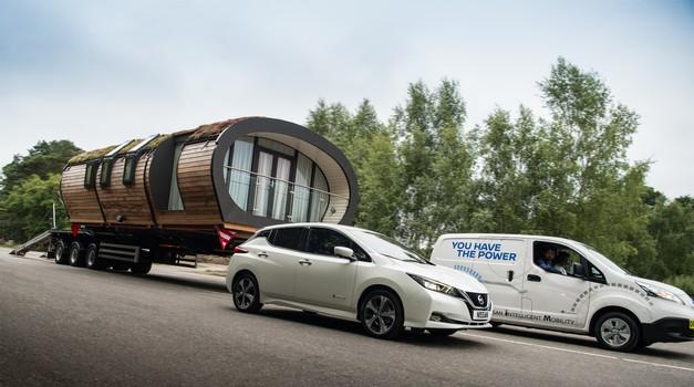 Nissan postavil rekord v vlečenju tovora med električnimi vozili (foto: Nissan)