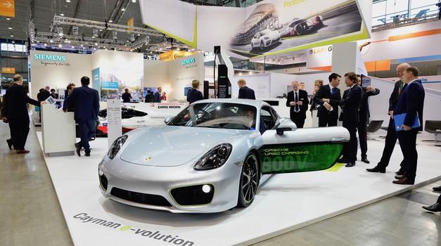 Porsche Cayman e-volution kot znanilec Porschejeve električne prihodnosti (foto: Porsche)