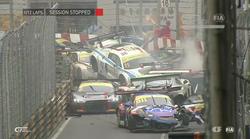Po masivem verižnem trčenju na VN Macaa odstopilo kar 12 dirkačev (video)