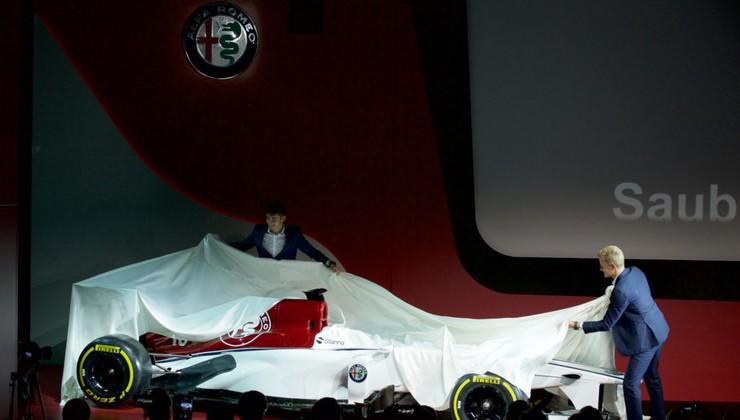Sauber predstavil grafično podobo dirkalnika za sezono 2018