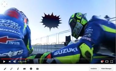 Navidezna prihodnost dirk MotoGP? Rins in Iannone vas z GSX-RR zapeljeta po dirkališču Aragon